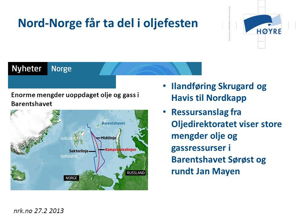Nord-Norge får ta del i oljefesten
