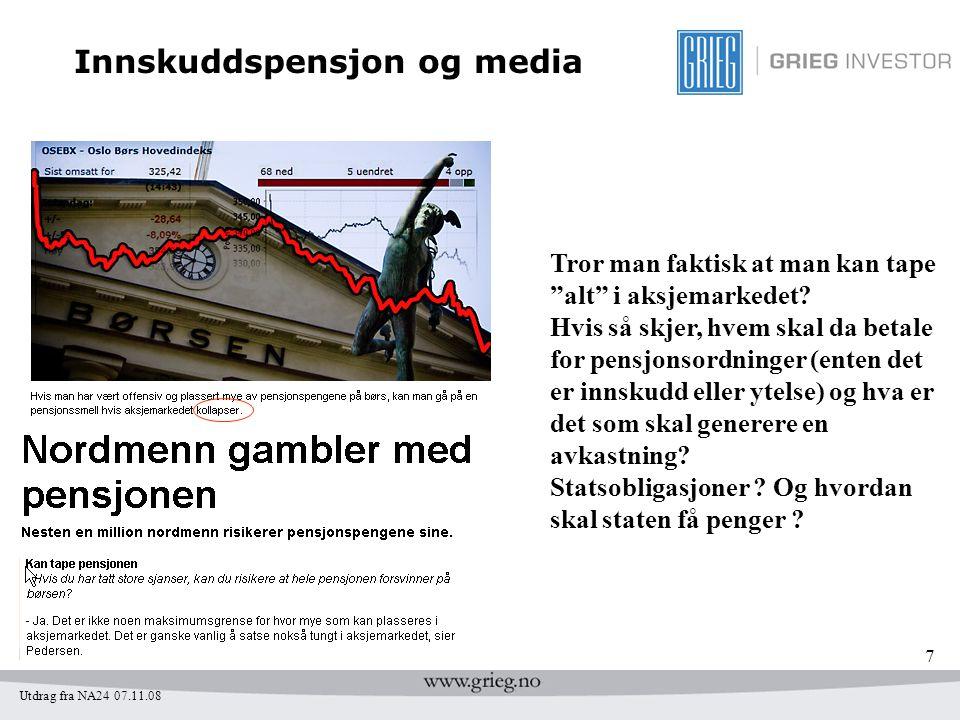 Innskuddspensjon og media