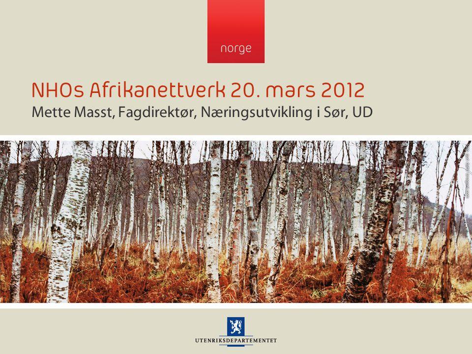 NHOs Afrikanettverk 20. mars 2012