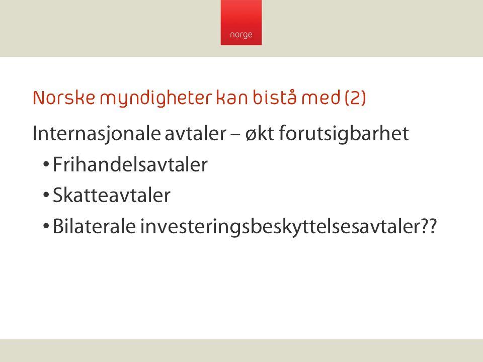Norske myndigheter kan bistå med (2)