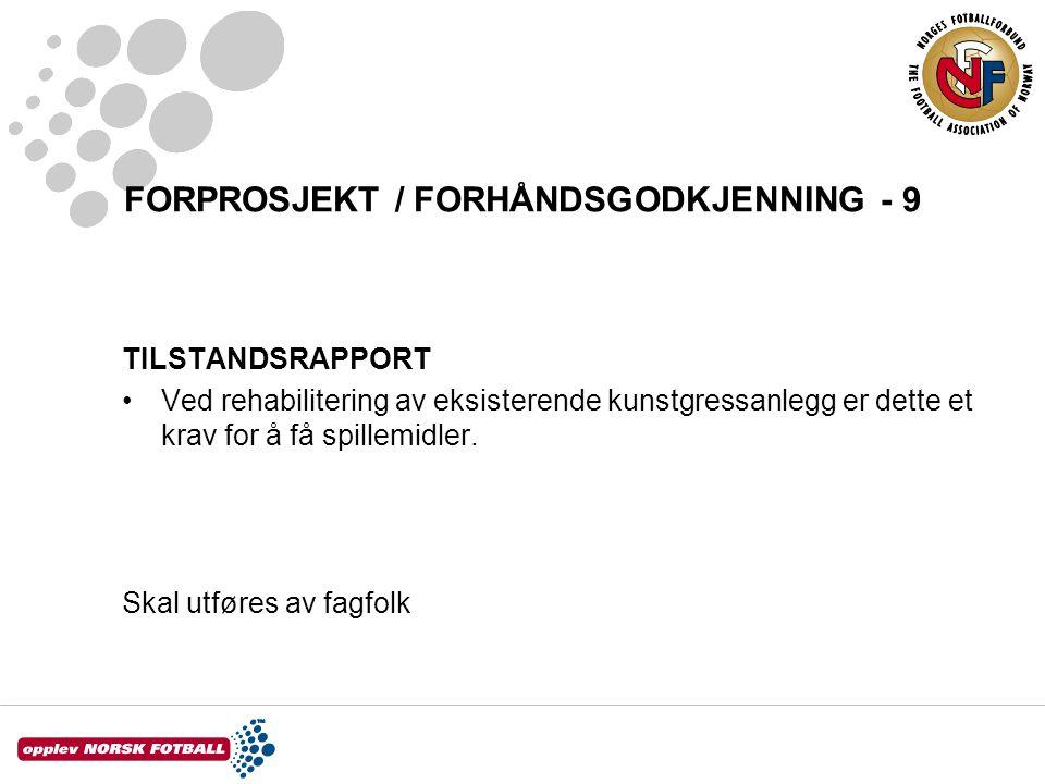 FORPROSJEKT / FORHÅNDSGODKJENNING - 9