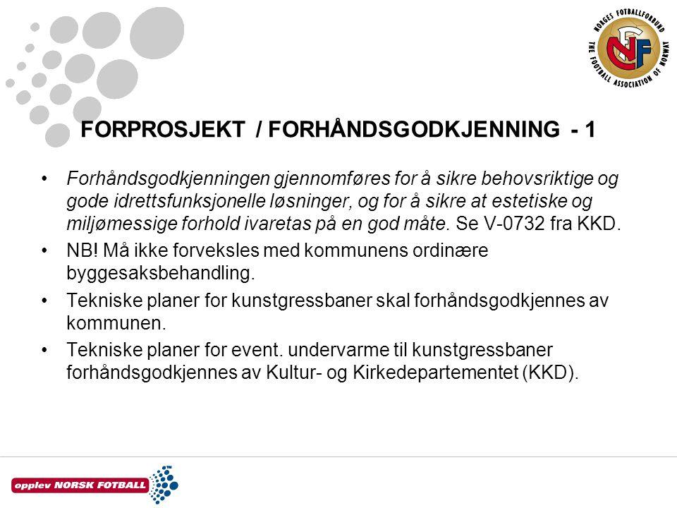 FORPROSJEKT / FORHÅNDSGODKJENNING - 1