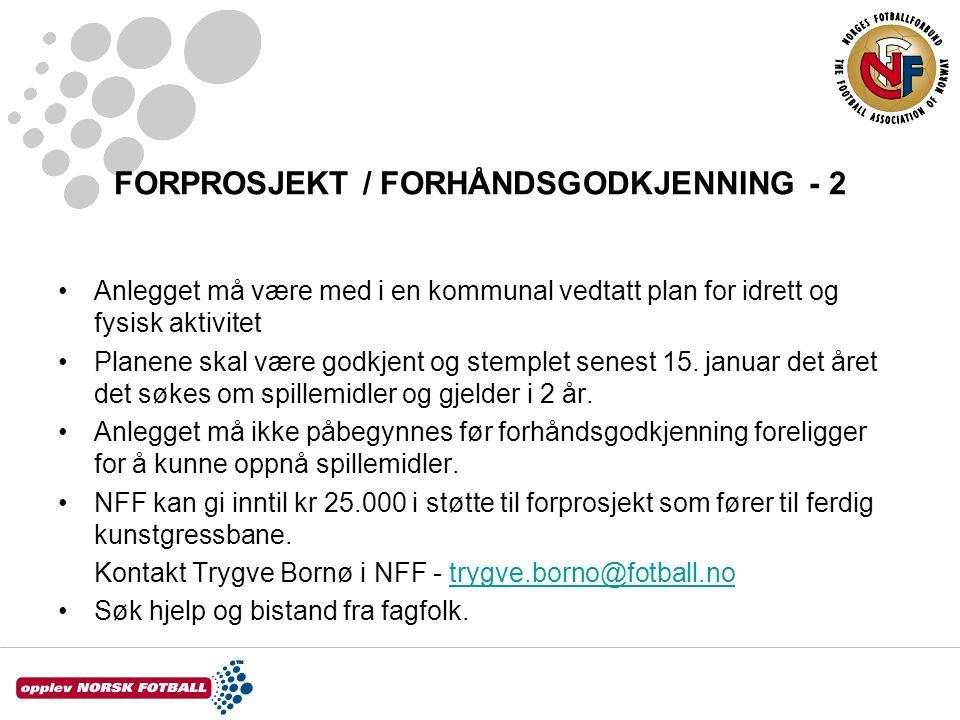 FORPROSJEKT / FORHÅNDSGODKJENNING - 2