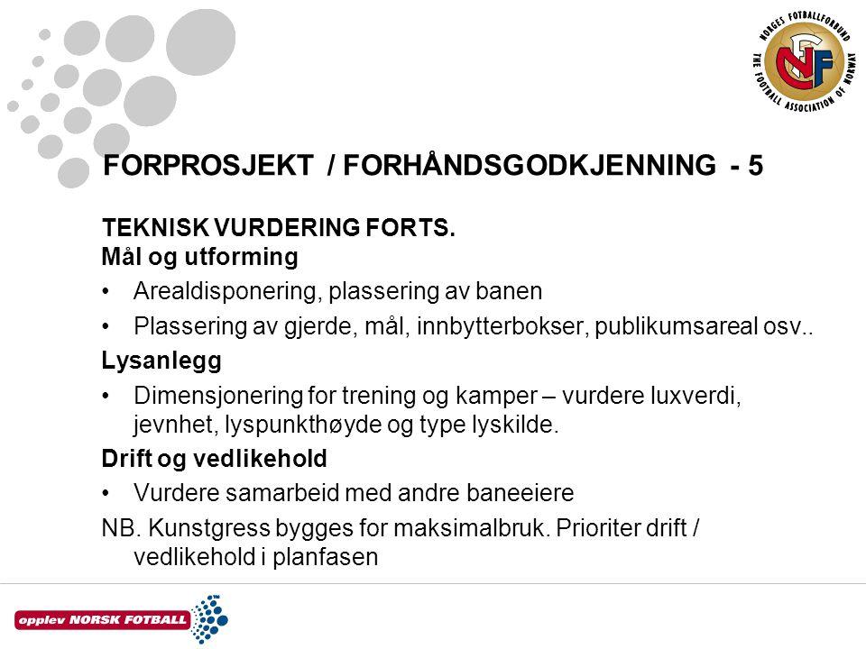 FORPROSJEKT / FORHÅNDSGODKJENNING - 5