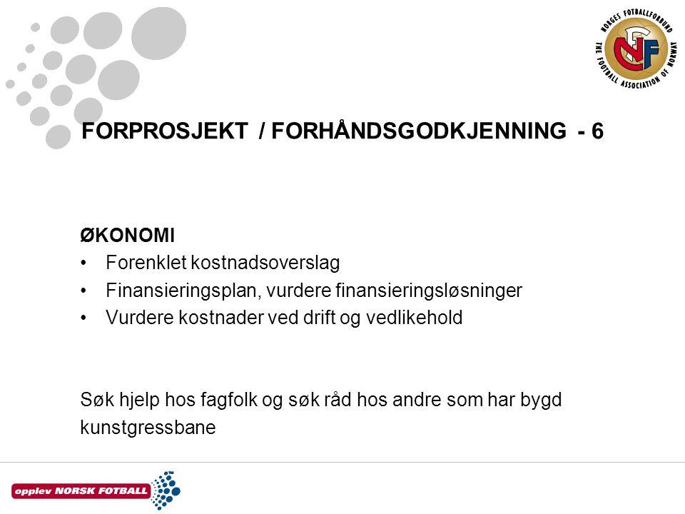 FORPROSJEKT / FORHÅNDSGODKJENNING - 6