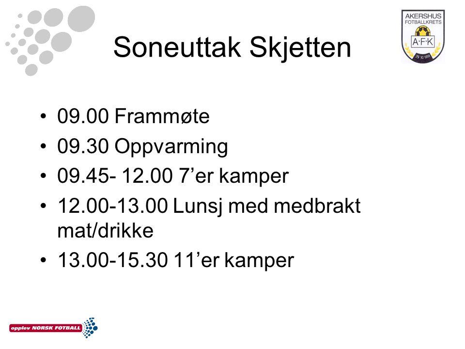 Soneuttak Skjetten 09.00 Frammøte 09.30 Oppvarming