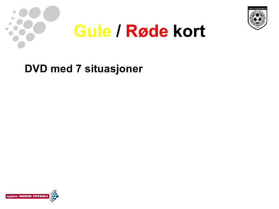 Gule / Røde kort DVD med 7 situasjoner