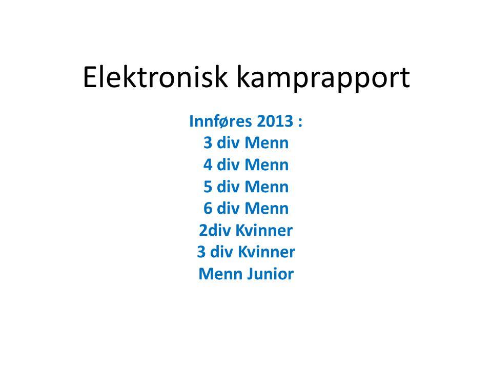 Elektronisk kamprapport