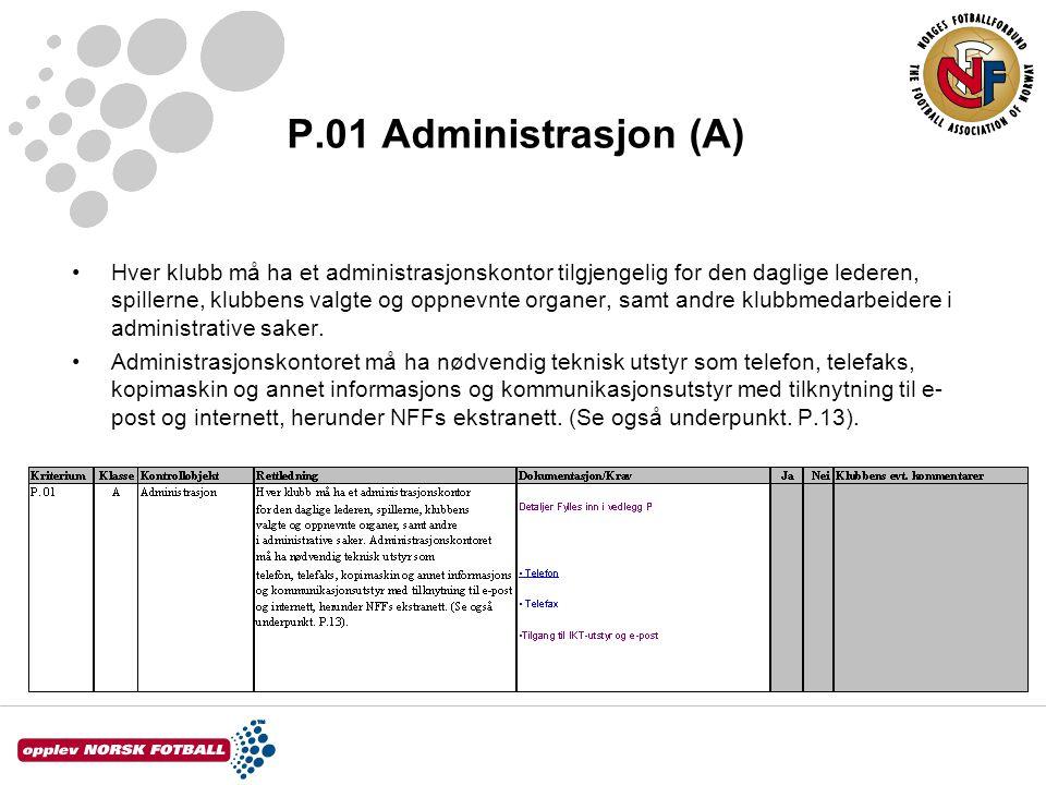 P.01 Administrasjon (A)