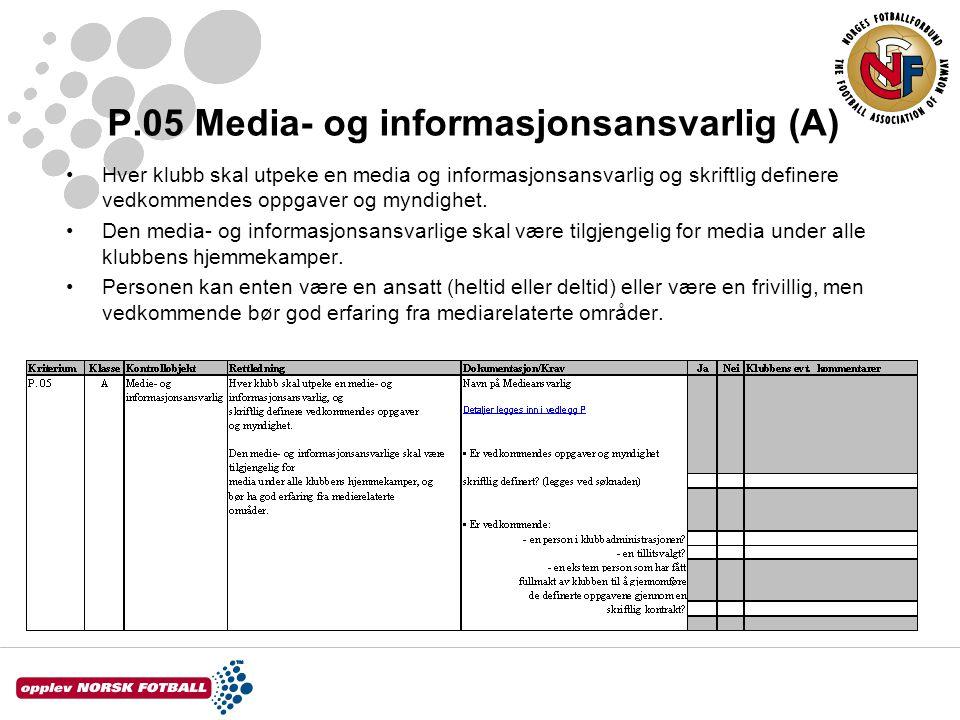 P.05 Media- og informasjonsansvarlig (A)
