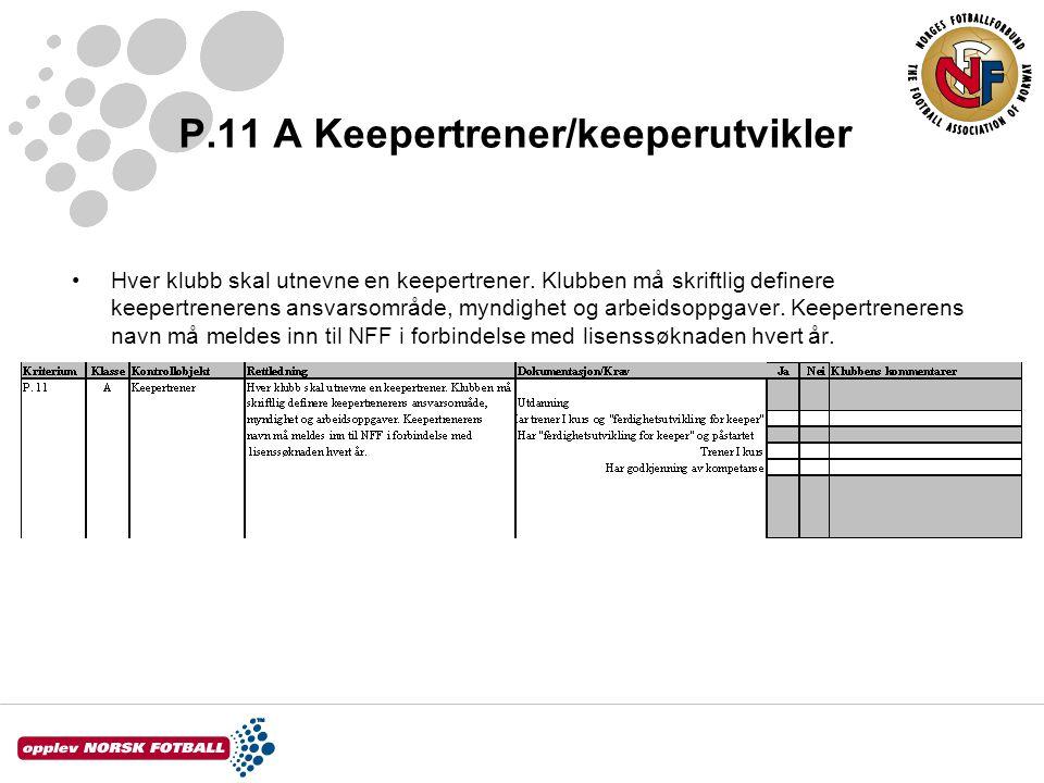 P.11 A Keepertrener/keeperutvikler