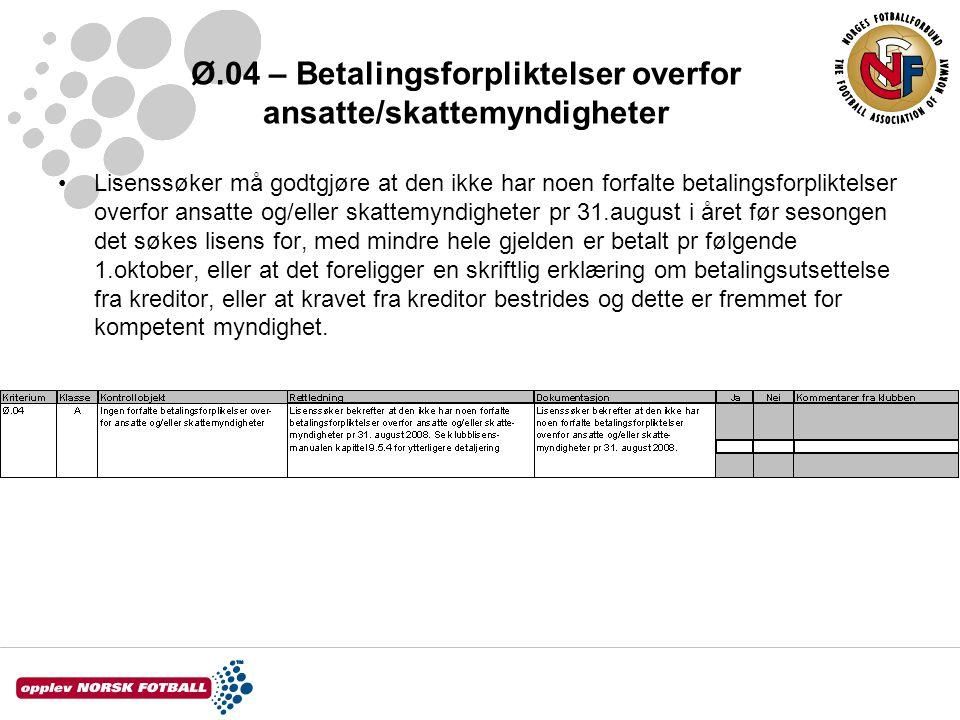 Ø.04 – Betalingsforpliktelser overfor ansatte/skattemyndigheter