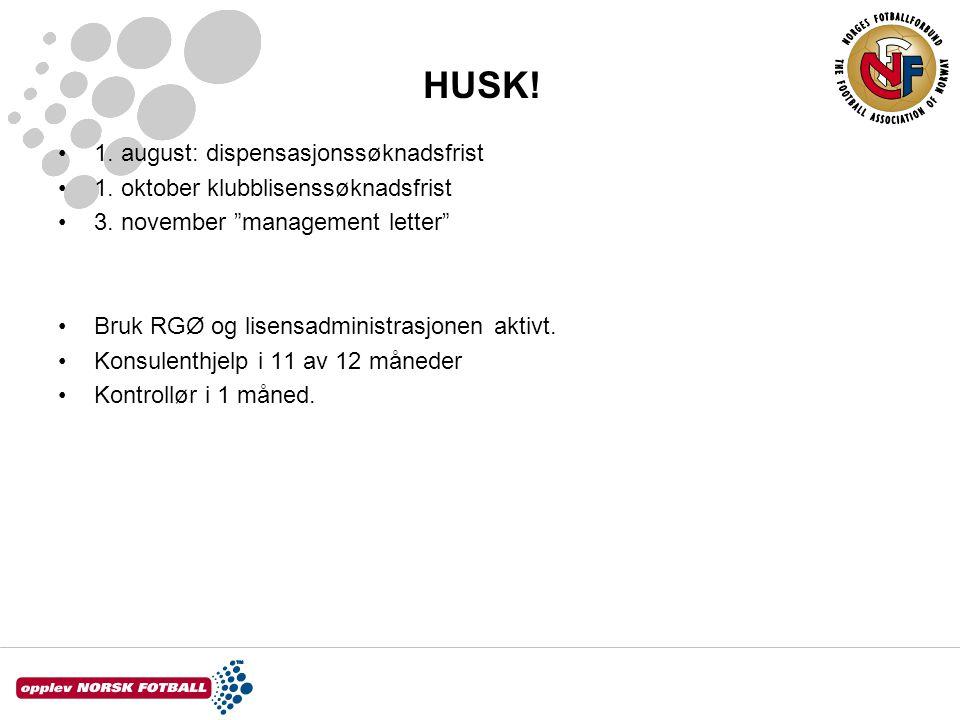 HUSK! 1. august: dispensasjonssøknadsfrist