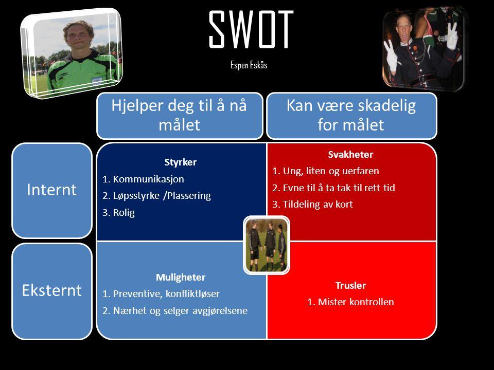 SWOT Espen Eskås Hjelper deg til å nå målet
