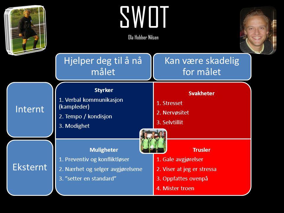SWOT Ola Hobber Nilsen Hjelper deg til å nå målet
