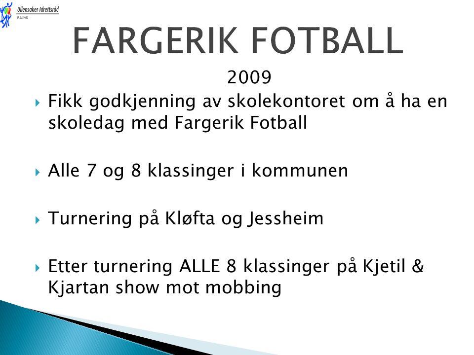 FARGERIK FOTBALL 2009. Fikk godkjenning av skolekontoret om å ha en skoledag med Fargerik Fotball.