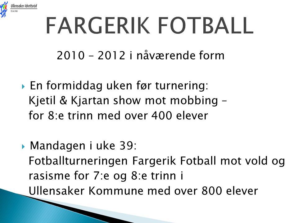 FARGERIK FOTBALL 2010 – 2012 i nåværende form