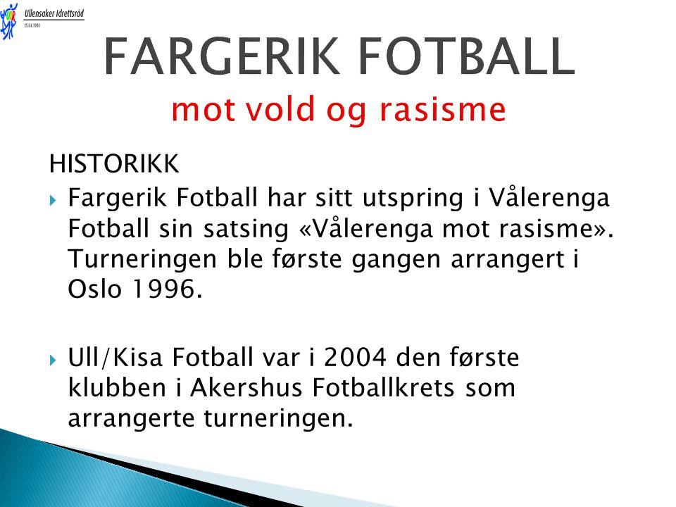 FARGERIK FOTBALL mot vold og rasisme