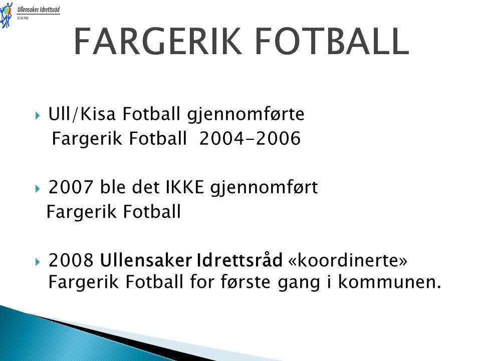 FARGERIK FOTBALL Ull/Kisa Fotball gjennomførte
