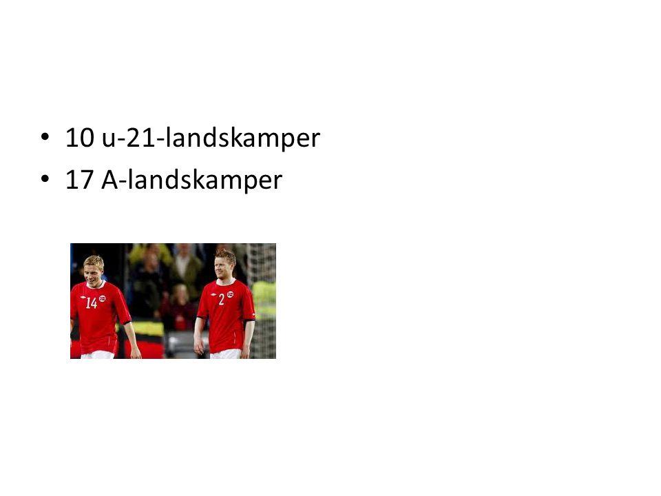 10 u-21-landskamper 17 A-landskamper