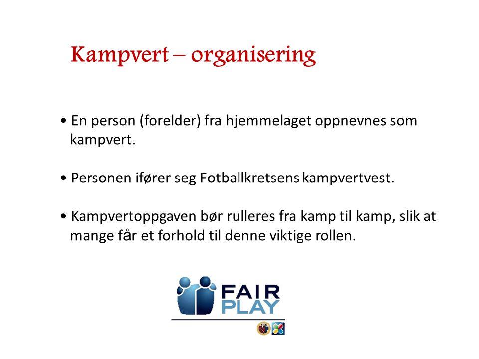 Kampvert – organisering