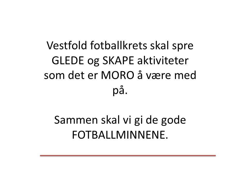 Vestfold fotballkrets skal spre GLEDE og SKAPE aktiviteter