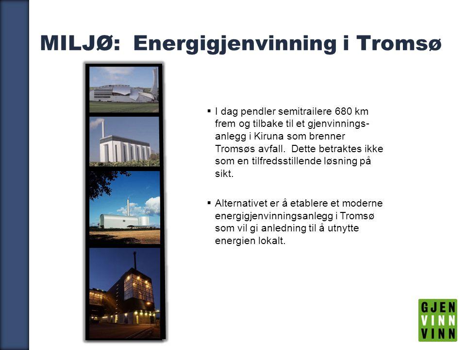 MILJØ: Energigjenvinning i Tromsø
