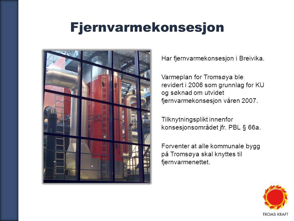 Fjernvarmekonsesjon Har fjernvarmekonsesjon i Breivika.
