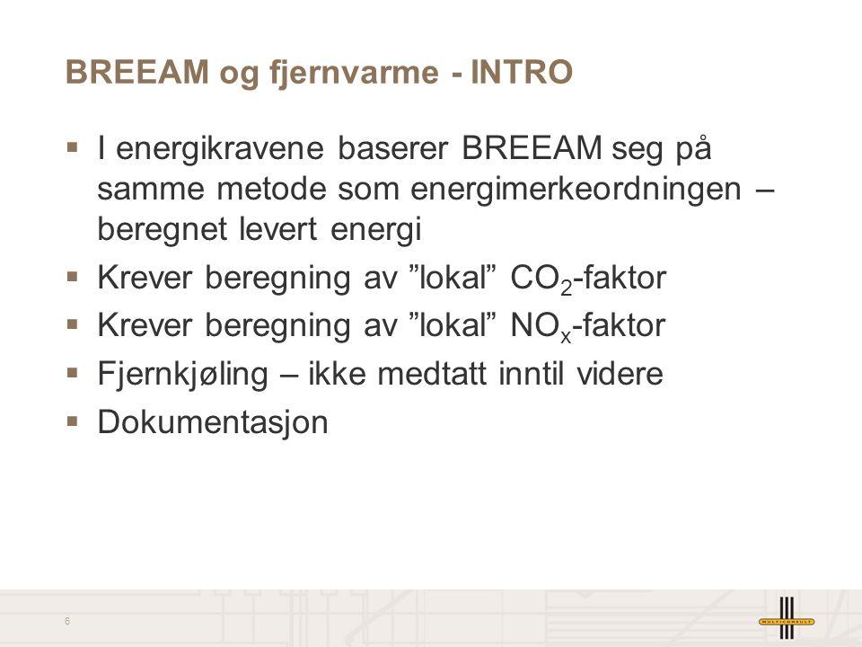 BREEAM og fjernvarme - INTRO