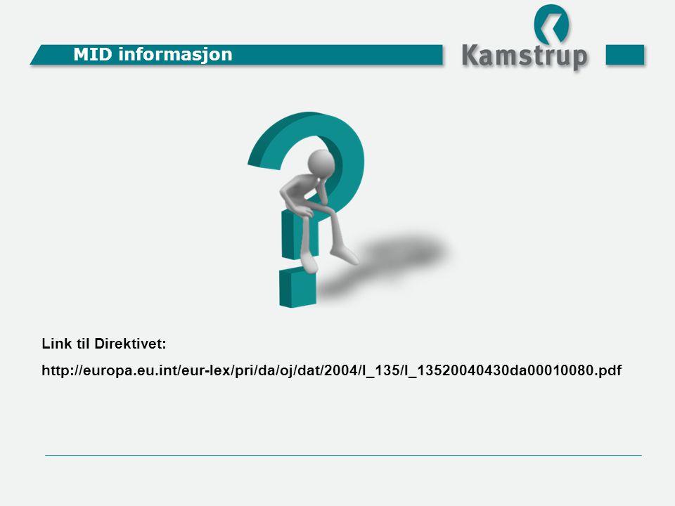 MID informasjon Link til Direktivet: