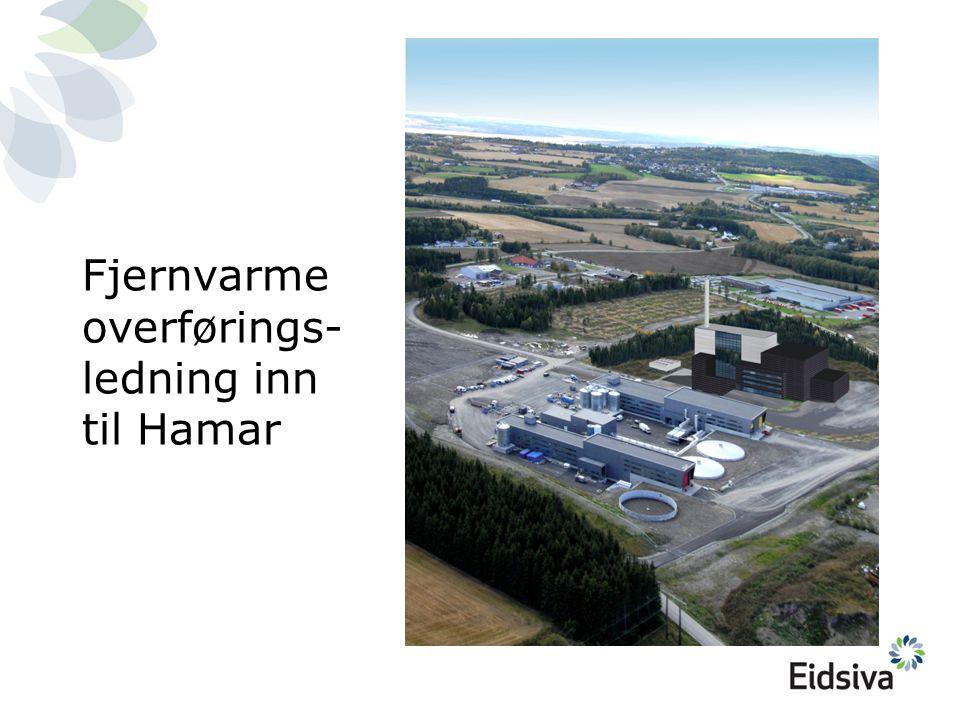 Fjernvarmeoverførings-ledning inn til Hamar
