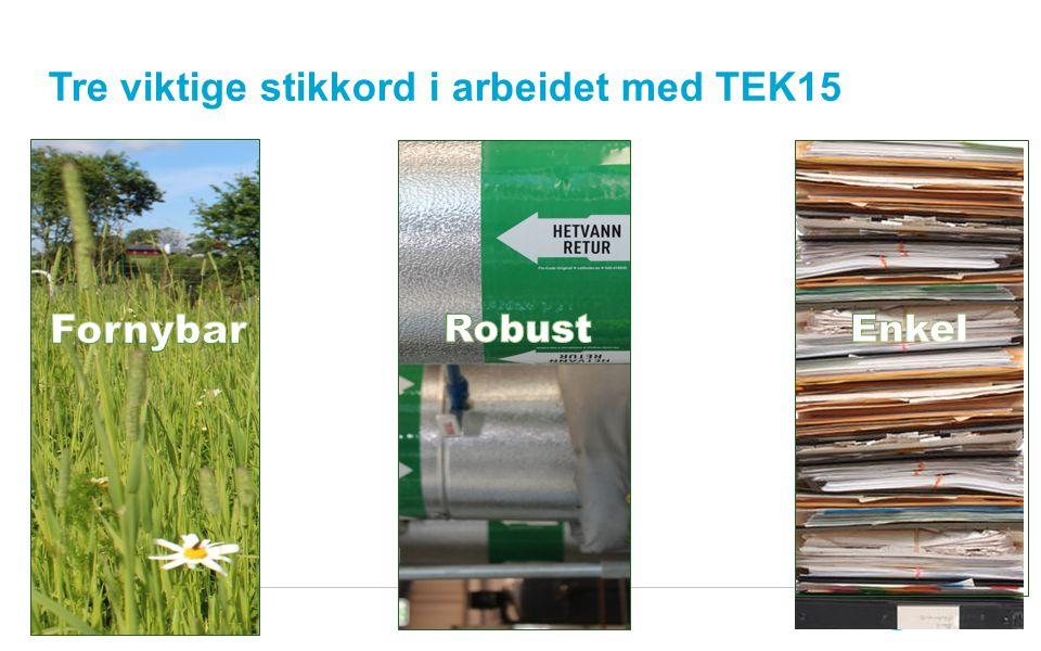 Tre viktige stikkord i arbeidet med TEK15