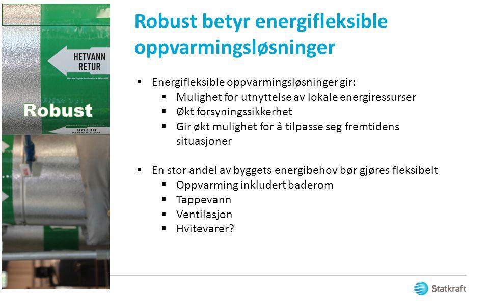 Robust betyr energifleksible oppvarmingsløsninger