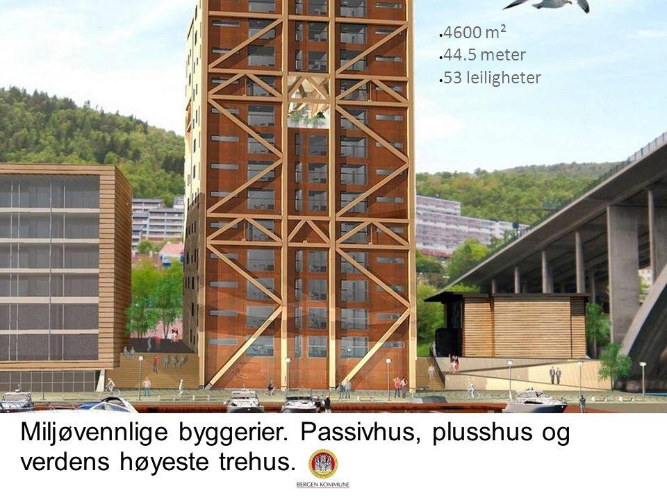 4600 m² 44.5 meter. 53 leiligheter. Miljøvennlige byggerier.