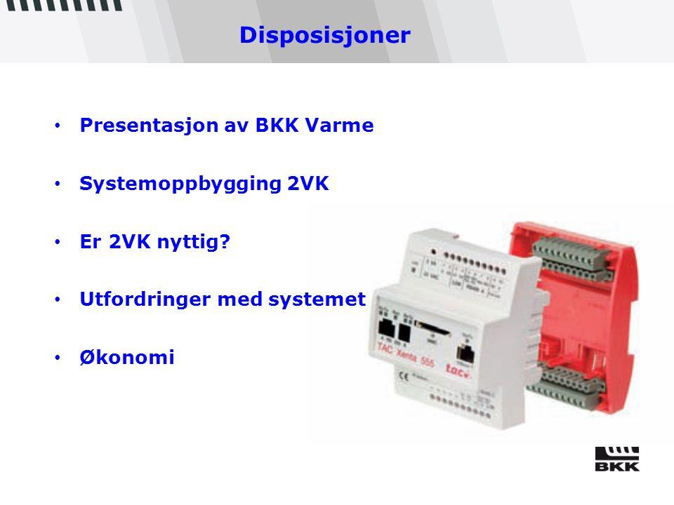 Disposisjoner Presentasjon av BKK Varme Systemoppbygging 2VK