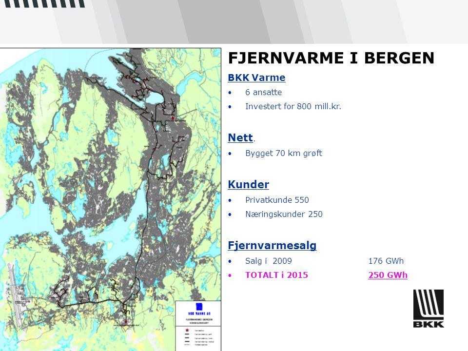 FJERNVARME I BERGEN Nett. Kunder Fjernvarmesalg BKK Varme 6 ansatte