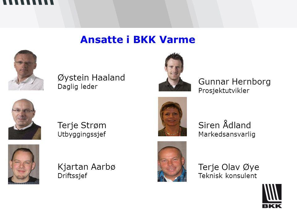 Ansatte i BKK Varme Øystein Haaland Gunnar Hernborg Terje Strøm