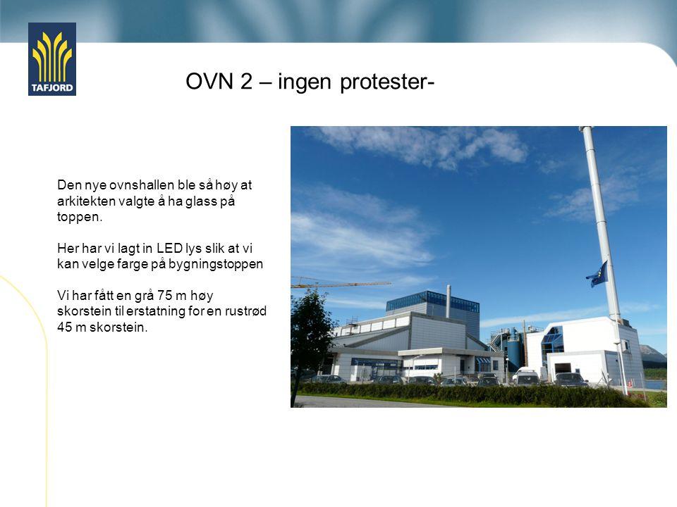 OVN 2 – ingen protester- Den nye ovnshallen ble så høy at arkitekten valgte å ha glass på toppen.