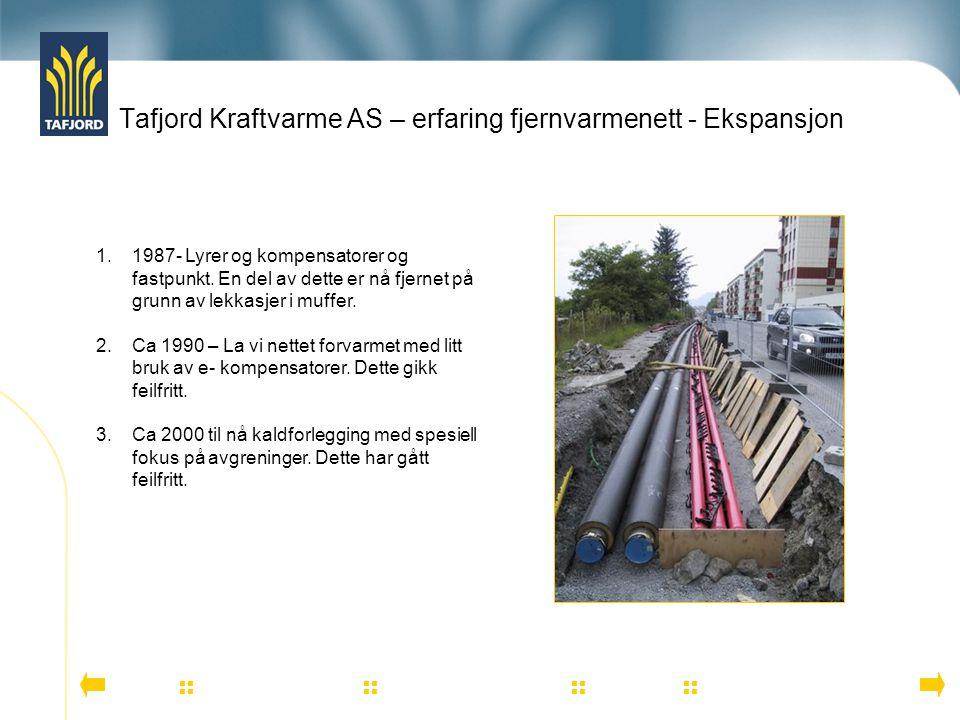 Tafjord Kraftvarme AS – erfaring fjernvarmenett - Ekspansjon