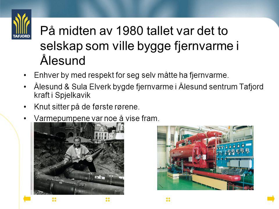 På midten av 1980 tallet var det to selskap som ville bygge fjernvarme i Ålesund