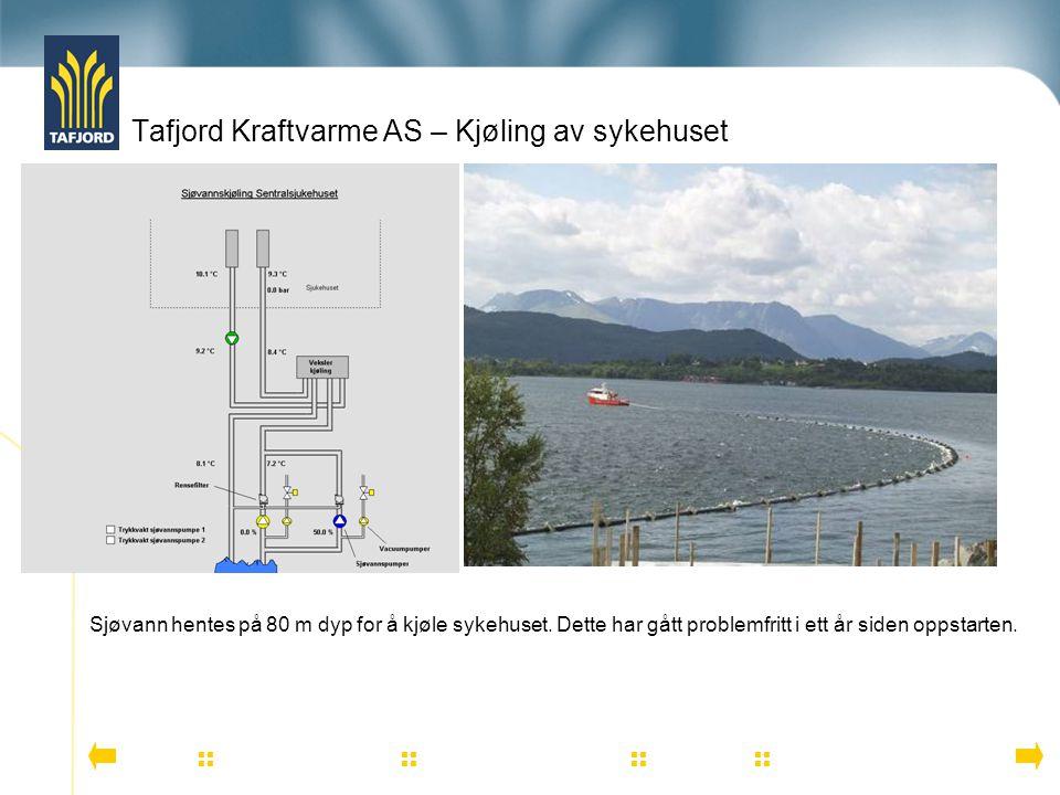 Tafjord Kraftvarme AS – Kjøling av sykehuset