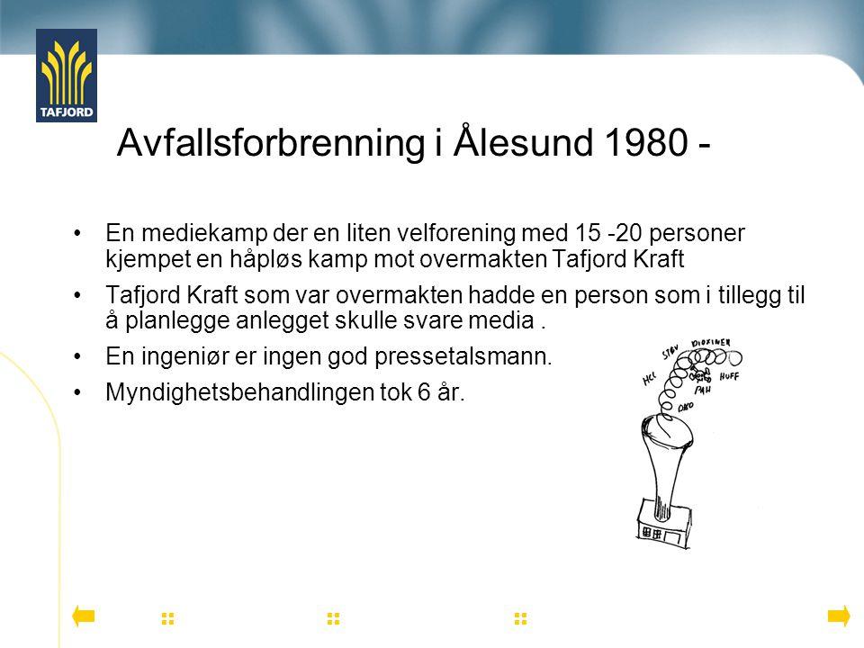 Avfallsforbrenning i Ålesund 1980 -