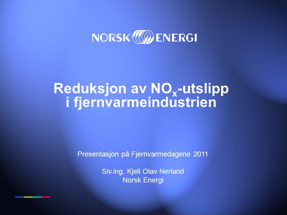 Reduksjon av NOx-utslipp i fjernvarmeindustrien