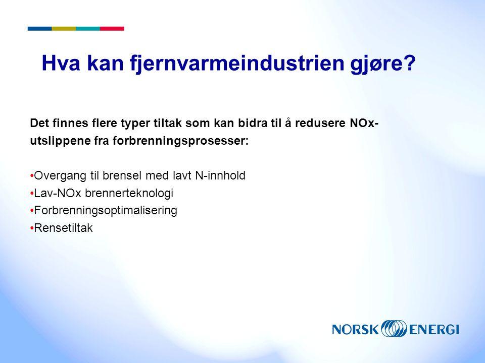 Hva kan fjernvarmeindustrien gjøre