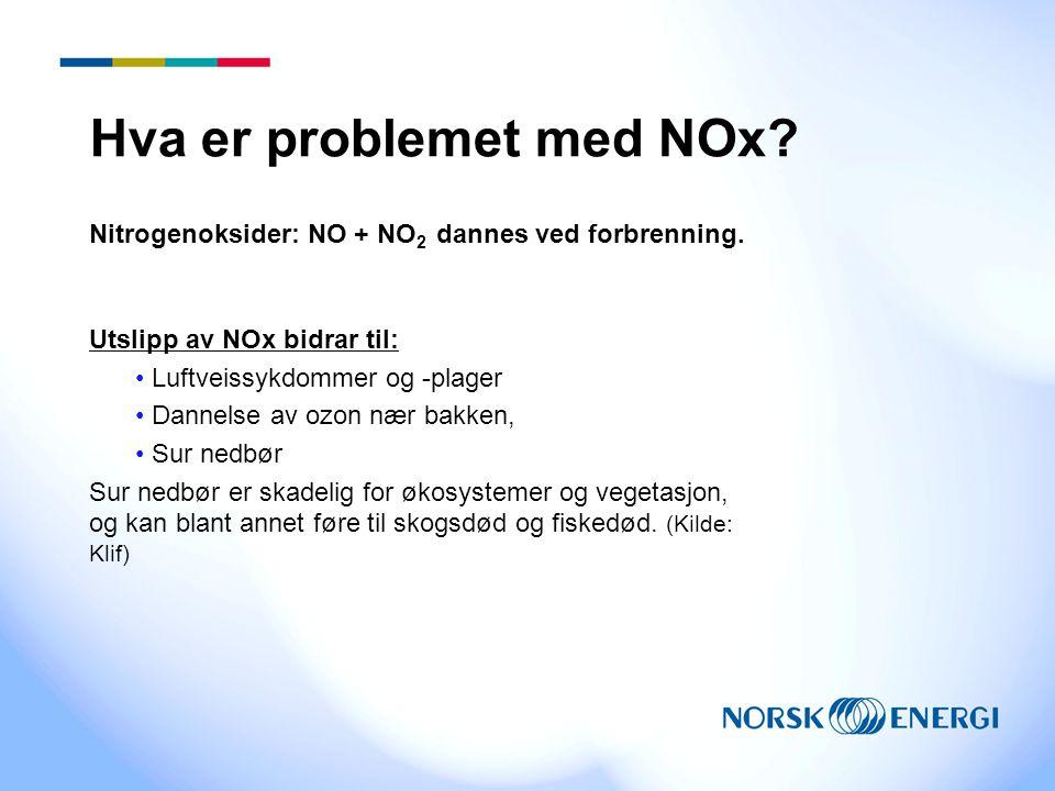 Hva er problemet med NOx