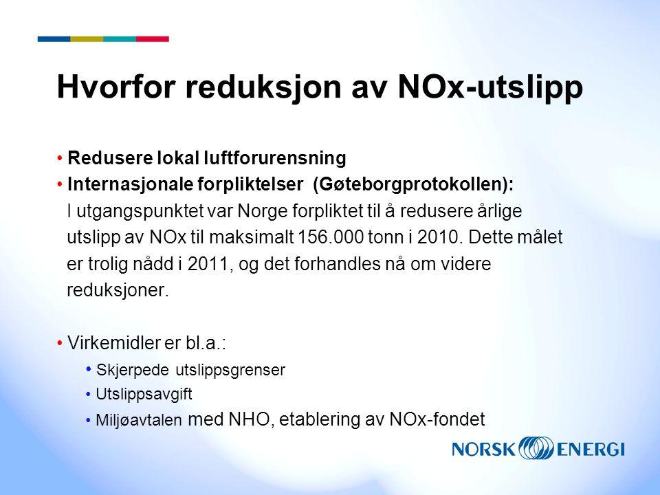 Hvorfor reduksjon av NOx-utslipp