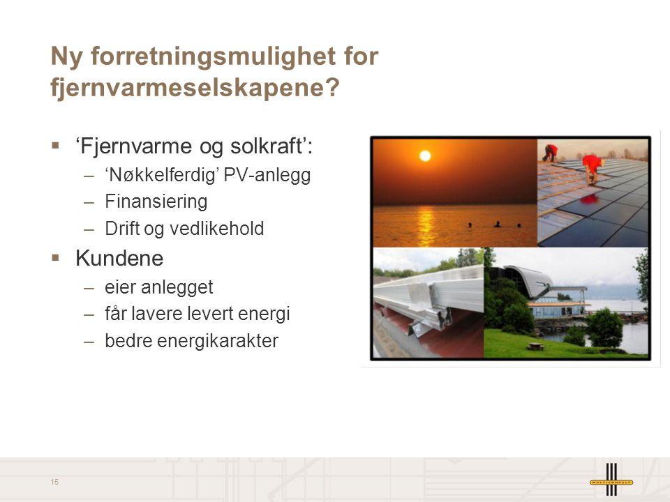 Ny forretningsmulighet for fjernvarmeselskapene