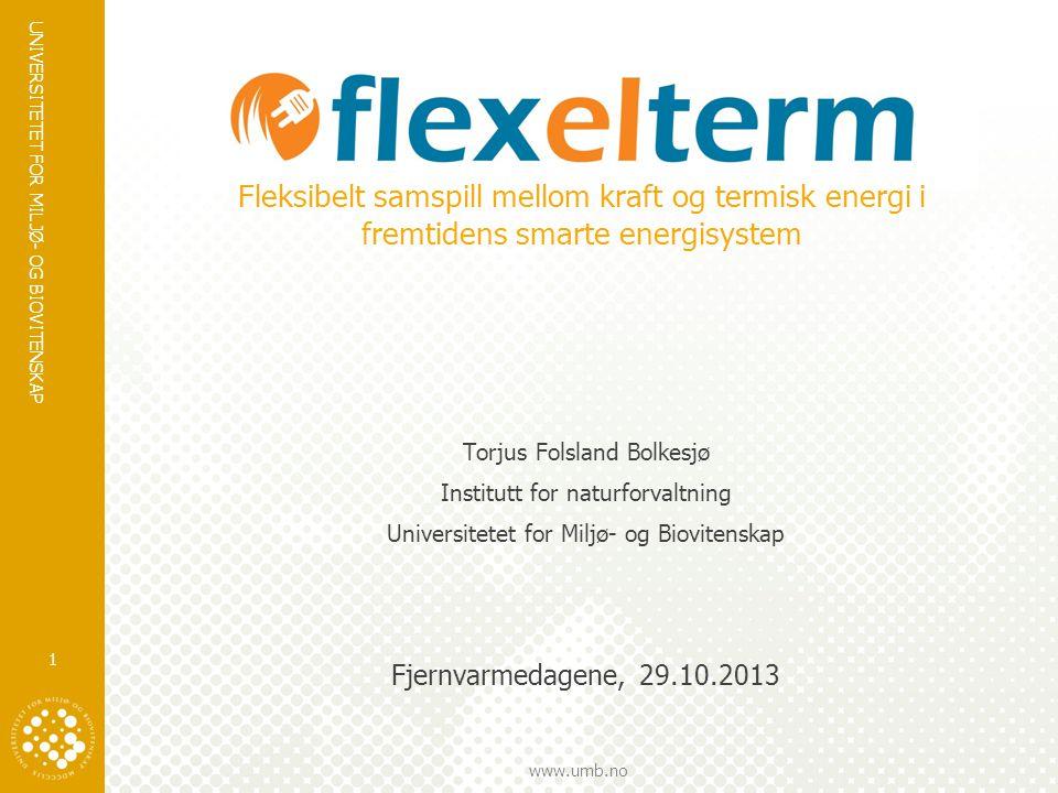 Fleksibelt samspill mellom kraft og termisk energi i fremtidens smarte energisystem