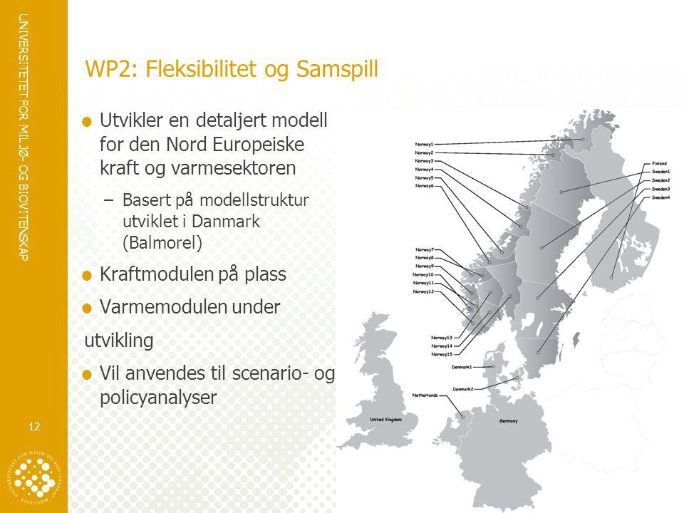 WP2: Fleksibilitet og Samspill