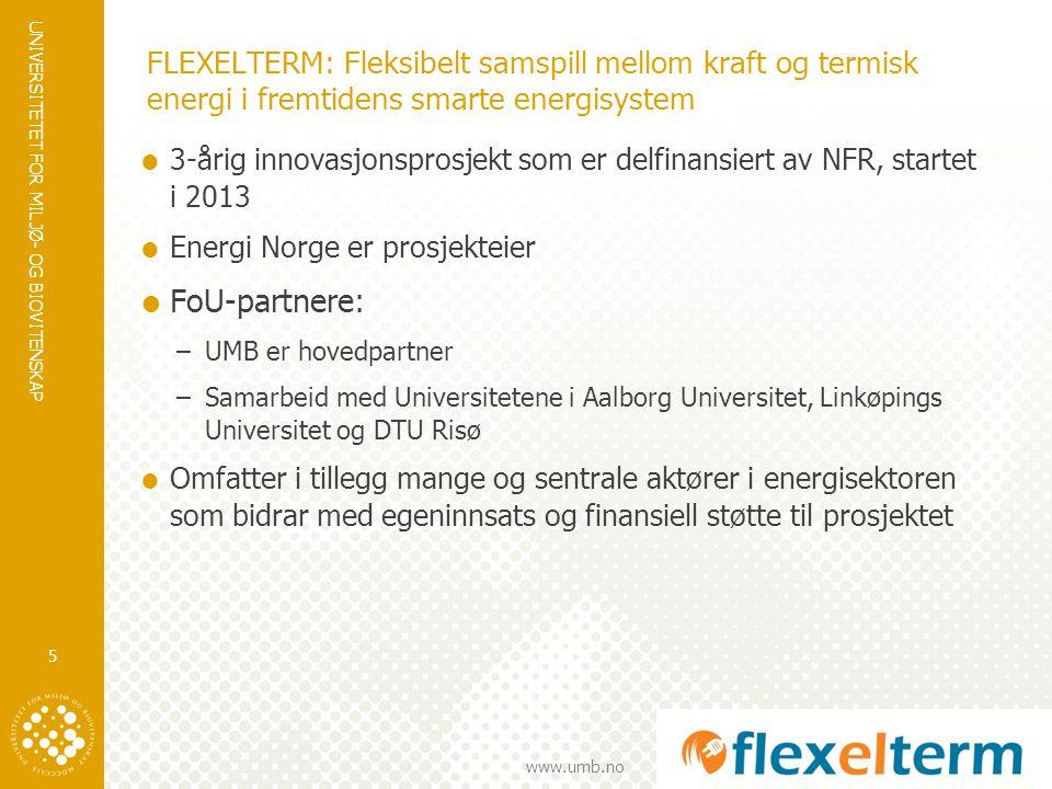FLEXELTERM: Fleksibelt samspill mellom kraft og termisk energi i fremtidens smarte energisystem